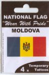 Moldova Country Flag Tattoos.